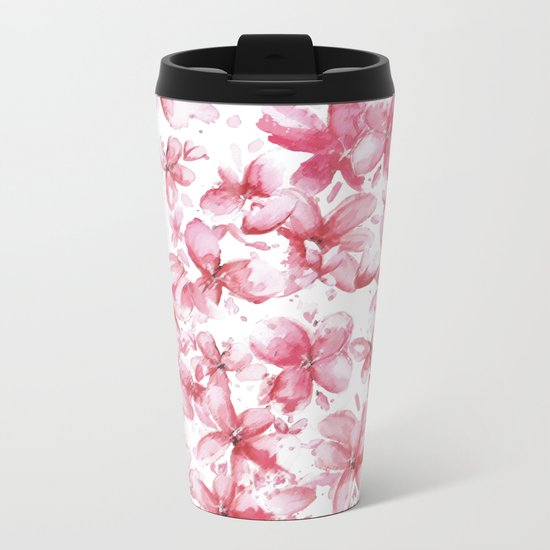 cherry blossoms Metal Travel Mug