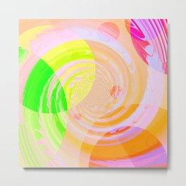 Re-Created Twisters No. 9 by Robert S. Lee Metal Print