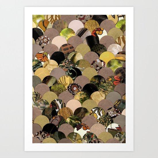 Autumn Scalloped Pattern Art Print