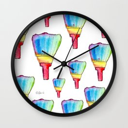 Paint Your Life With Your Colors - colorful rainbow paint brush positive quote Wall Clock