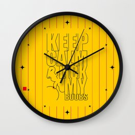 Keep calm & lick my Boobs... Sex Inspirational Quote Wall Clock