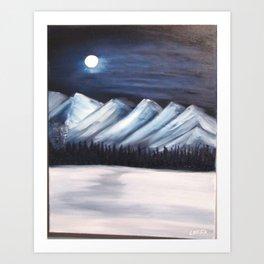 Icy Mountains Art Print