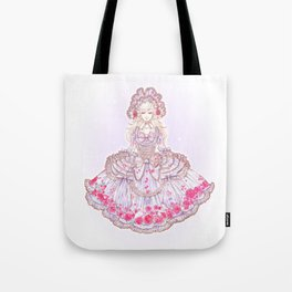 Romantic Rose Letter Tote Bag