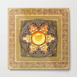Mandala Solarium Metal Print