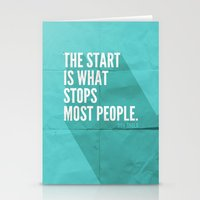 sayings Stationery Cards featuring The Start by Zeke Tucker