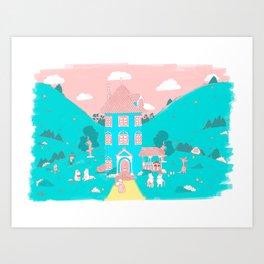 Valle Moomin Art Print