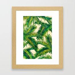 Palms #palm #palms #flower Framed Art Print