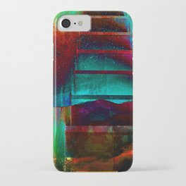 When planets collide painting iPhone Case