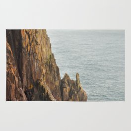 Lower Neahkahnie Mountain Ocean Spires, Oregon Coast Landscape Rug