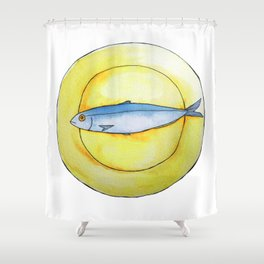 Sardine Platter Shower Curtain