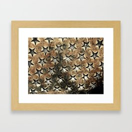 Serie Texturas - CleMpasS - Estrellas Framed Art Print