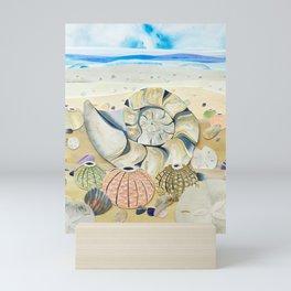 Nautilus Shell Beach Mini Art Print