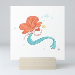 Friendly Mermaid Mini Art Print