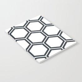 Hexagon White Notebook