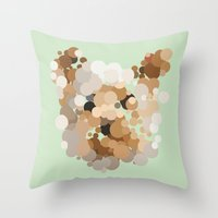 terrier Throw Pillows featuring Terrier  by Glen Gould