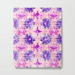 Tie Dye - peachy purple  Metal Print