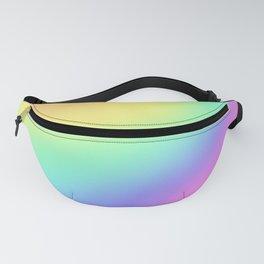 Pastel Rainbow Gradient Curvy Design! Fanny Pack