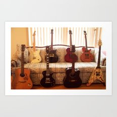 Rock My Guitarz Art Print