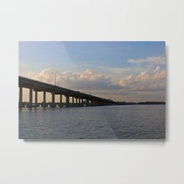 Under the Caloosahatchee Bridge Metal Print