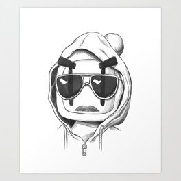 Una-Bomberman Art Print