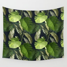 Tropical Leaf Pattern 1 Wall Tapestry
