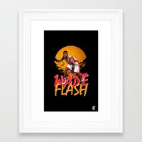 nba Framed Art Prints featuring NBA Legends: Dwyane Wade by Akyanyme