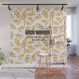 Good morning - Gold leaves collection Wall Mural