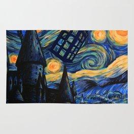 Tardis The Starry Night Rug