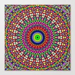 Vibrant Flower Garden Mandala Canvas Print