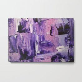 Purple Mess Metal Print