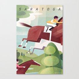 Saratoga Travel Poster Canvas Print