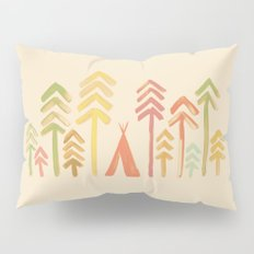 Tepee in the forest Pillow Sham