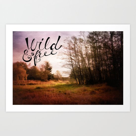 wild and free: meadow Art Print