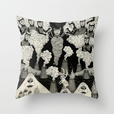 The Mountains Wept For Her Throw Pillow
