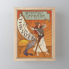 Women's Suffrage - The Right To The Vote Framed Mini Art Print