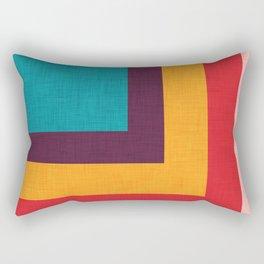 Abstract Mod Cube Teal  #midcenturymodern Rectangular Pillow