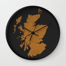 Distilleries of Scotland (woodpress) Wall Clock