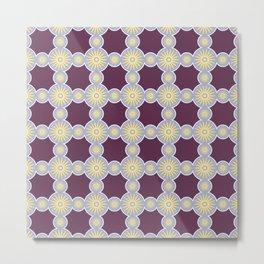Mitosis Circular Print Seamless Pattern Metal Print
