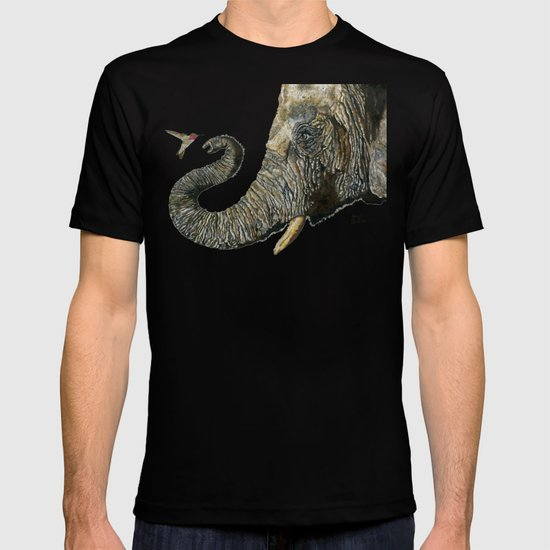 Elephant Cyril And Hummingbird Ayre T-shirt