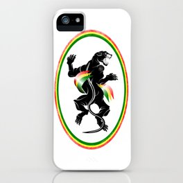 Black Panther Rastafarian Flag iPhone Case