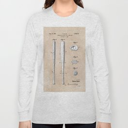 patent Taylor Streamlined baseball bat or the like 1938 Long Sleeve T-shirt