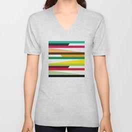 Geometric Pattern 73 (colorful stripes) Unisex V-Neck