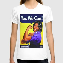 """""""Recovery.gov"""", Michelle Obama as Rosie the riveter. T-shirt"""