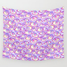 Wall of Eyes in Purple Wall Tapestry