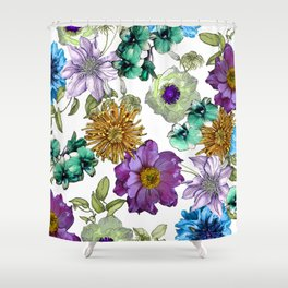 Botanical Haze Shower Curtain