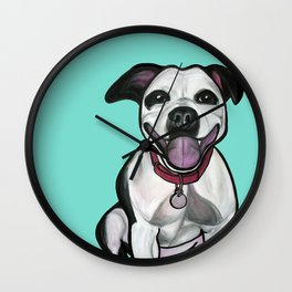 Dolce the Pitbull Wall Clock