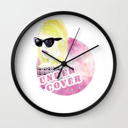 Under cover (detective) Wall Clock