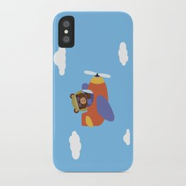Bear in Airplane iPhone Case