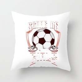 Cute You Don't Scare Me I Coach Girls Soccer Throw Pillow