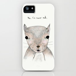 sandy squirrel iPhone Case